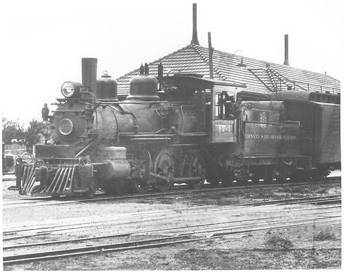 Engine #174 at Santa Fe, NM.<br /> D&amp;RGW  Santa Fe, NM  ca 1928