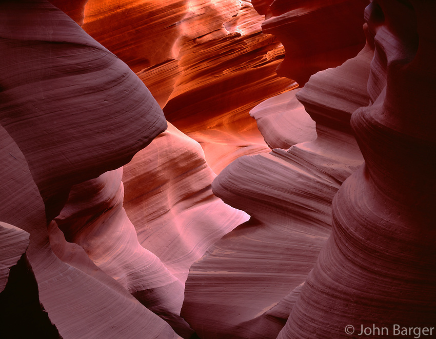 AZNEA_06 -  Erosion of Navajo Sandstone by water has resulted in the dramatic contours of Lower Antelope Canyon, Antelope Canyon Navajo Tribal Park, northeast Arizona, USA --- (4x5 inch original, File size: 7713x6000, 132mb uncompressed).