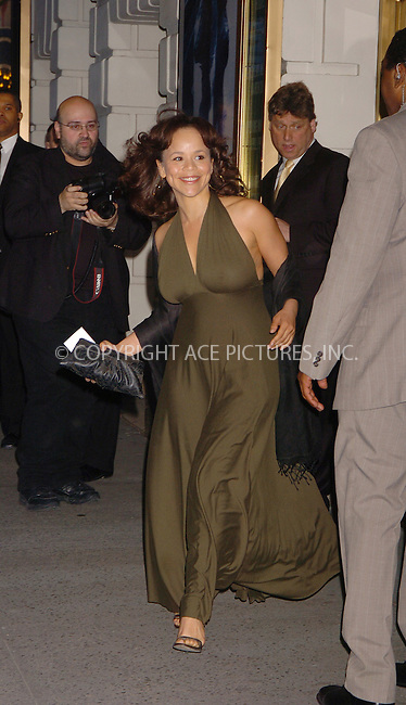 "WWW.ACEPIXS.COM . . . . . ....April 19 2006, New York City....ROSIE PEREZ....Arrivals at the opening night of ""Three Days of Rain"" staring Julia Roberts at the Bernard B Jacobs Theatre in midtown Manhattan....Please byline: AJ SOKALNER - ACEPIXS.COM..... . . . . ..Ace Pictures, Inc:  ..(212) 243-8787 or (646) 679 0430..e-mail: picturedesk@acepixs.com..web: http://www.acepixs.com"