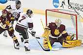 Mike Montgomery (Duluth - 24), Daniel Carr (Union - 9), Josh Jooris (Union - 7), Kenny Reiter (Duluth - 35) - The University of Minnesota-Duluth Bulldogs defeated the Union College Dutchmen 2-0 in their NCAA East Regional Semi-Final on Friday, March 25, 2011, at Webster Bank Arena at Harbor Yard in Bridgeport, Connecticut.