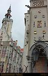 Poortersloge Burgher's Lodge 1417, Old Toll House 1477, Academiestraat and Jan van Eyckplein, Bruges, Brugge, Belgium