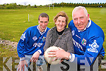 Knockanure parish pride: Michael Woods,(North Kerry Board Delegate), Ann Woods, (treasure of Knockanure GAA club) and Gerard Greaney (Chairman).