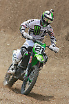French Gautier Paulin (Kawasaki) rides during the  MXGP World Championship Motocross at Pietramurata, Italy on April 13, 2014.