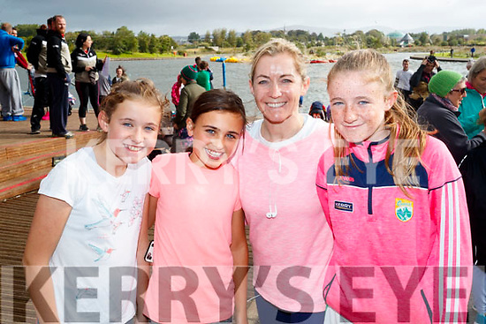 Clodagh Fitzgibbon, Maya Reeves McQue, Sarah Fitzgibbon and Siun Fitzgibbon, all from Tralee, who took part in the Colour Dash 5km Colour Run, in aid of Crumlin Children's Hospital at Tralee Bay Wetlands, on Sunday morning last.