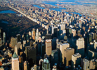 aerial photograph midtown Manhattan, upper East side New York City