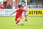 2018-06-22 / Voetbal / Seizoen 2018-2019 / Hoogstraten VV - R. Antwerp FC / Antoine Bernier (Antwerp) met Ruben Meynendonckx in de rug<br /> <br /> ,Foto: Mpics