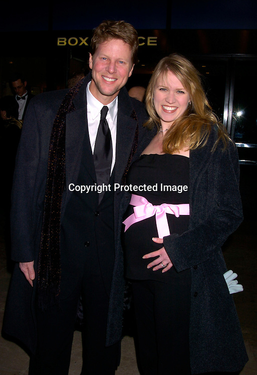 "Alan Campbell and wife Lauren Kennedy.at The Broadway opening of "" Fidler On The Roof"" on .February 26, 2004 at the Minskoff Theatre. Photo by .Robin Platzer, Twin Images.  He is on All My Children."
