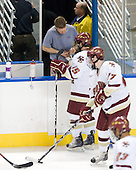 Bert Lenz (BC - Trainer), Joe Whitney (BC - 15) - The Boston College Eagles defeated the Yale University Bulldogs 9-7 in the Northeast Regional final on Sunday, March 28, 2010, at the DCU Center in Worcester, Massachusetts.