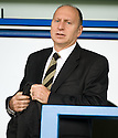 16/10/2010   Copyright  Pic : James Stewart.sct_jsp023_stirling_v_dundee  .:: ADMINISTRATOR BRYAN JACKSON TAKES HIS SEAT IN THE STAND ::  .James Stewart Photography 19 Carronlea Drive, Falkirk. FK2 8DN      Vat Reg No. 607 6932 25.Telephone      : +44 (0)1324 570291 .Mobile              : +44 (0)7721 416997.E-mail  :  jim@jspa.co.uk.If you require further information then contact Jim Stewart on any of the numbers above.........
