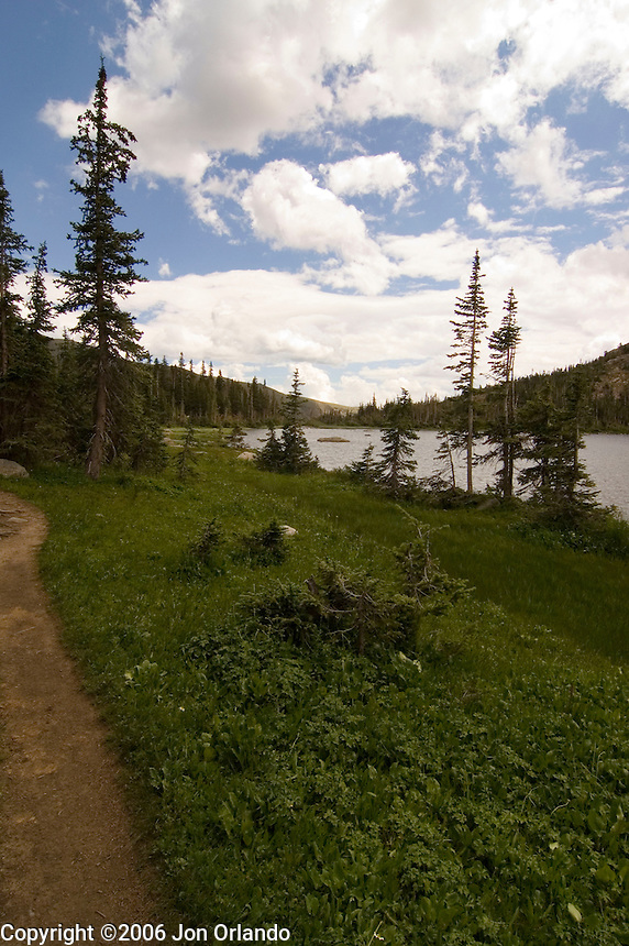 Diamond Lake in the Indian Peaks Wilderness in the Rocky Mountains of Colorado.