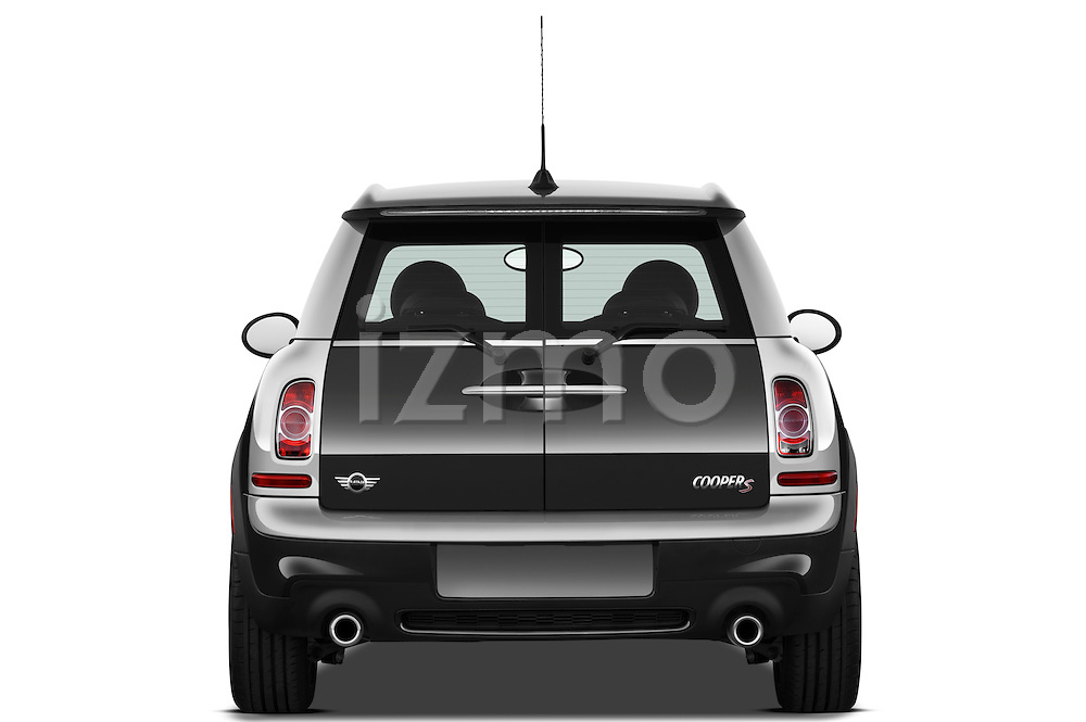 Straight rear view of a 2011 Mini Cooper Clubman S