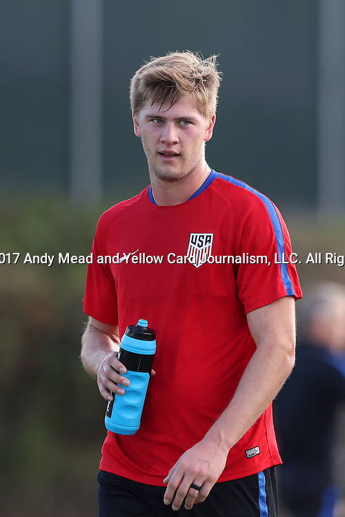 11 January 2017: Walker Zimmerman. The United States Men's National Team held their first training session under new head coach Bruce Arena on The Murphy Family Field at the StubHub Center in Carson, California.