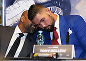 4th October 2017, Park Plaza, London, England; Tony Bellew versus David Haye, The Rematch, Press Conference;  Tony Bellew trainer David Coldwell talking during Press Conference