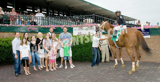 Not For Money winning at Delaware Park on 7/21/12