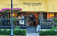 Ridgeway Bar & Grill restaurant, Old Naples, Florida, USA.