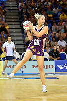 Clare McMeniman in action during the ANZ Championship - Mojo Pulse v Queensland Firebirds at Te Rauparaha Arena, Porirua, New Zealand on Sunday 8 March 2015. <br /> Photo by Masanori Udagawa. <br /> www.photowellington.photoshelter.com.