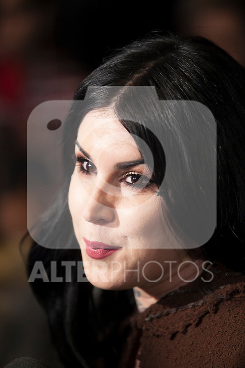 Kat Von D (Katherine Von Drachenberg) attends a make-up presentation in Madrid, Spain. October 07, 2015. (ALTERPHOTOS/Victor Blanco)