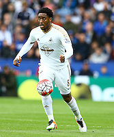 Leroy Fer of Swansea City during the Barclays Premier League match between Leicester City and Swansea City played at The King Power Stadium, Leicester on 24th April 2016