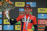 Dylan Teuns (BEL) Bahrain-Merida wins Stage 2 of the Criterium du Dauphine 2019, running 180km from Mauriac to Craponne-sur-Arzon, France. 9th June 2019<br /> Picture: Colin Flockton | Cyclefile<br /> All photos usage must carry mandatory copyright credit (© Cyclefile | Colin Flockton)