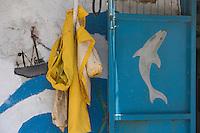 Asie/Israël/Galilée/Saint-Jean-d'Acre: détail poissonnerie de la vieille ville