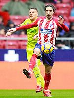 Atletico de Madrid's Sime Vrsaljko (r) and Getafe CF's Vitorino Antunes during La Liga match. January 6,2018. (ALTERPHOTOS/Acero) /NortePhoto.com NORTEPHOTOMEXICO