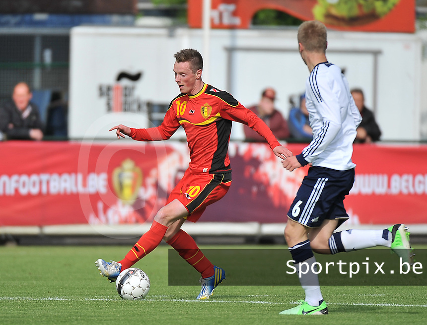 Scotland U19 - Belgium U19 : Rob Schoofs.foto DAVID CATRY / Nikonpro.be