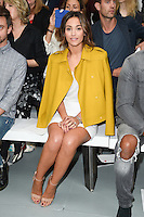 Frankie Bridge<br /> at the Jasper Conran catwalk show as part of London Fashion Week SS17, Brewer Street Car Park, Soho London<br /> <br /> <br /> &copy;Ash Knotek  D3155  17/09/2016