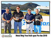 Eddie Pepperell (ENG) team on the 10th tee during Wednesday's Pro-Am of the 2018 Dubai Duty Free Irish Open, held at Ballyliffin Golf Club, Ireland. 4th July 2018.<br /> Picture: Eoin Clarke | Golffile<br /> <br /> <br /> All photos usage must carry mandatory copyright credit (&copy; Golffile | Eoin Clarke)