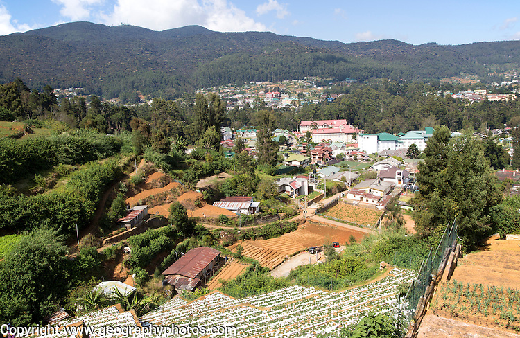 View over the town of Nuwara Eliya, Central Province, Sri Lanka