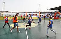 Nederland  Amsterdam  2016. De Johan Cruyff Foundation dag in Amsterdam. Een sportdag voor jongeren mét en zonder beperking in het Olympisch Stadion. Foto Berlinda van Dam / Hollandse Hoogte