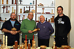 Glen Carter, Liam Reynolds, John Madden and Geoff Hynes at the Open Day for Drogheda Men's Shed