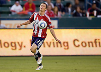 Chivas USA forward Justin Braun gremaces after nearly missing a goal. CD Chivas USA beat DC United 1-0 at Home Depot Center stadium in Carson, California on Sunday August 29, 2010.