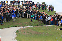 Jon Rahm (ESP) in the rough on the 12th during Round 2 of the Open de Espana 2018 at Centro Nacional de Golf on Friday 13th April 2018.<br /> Picture:  Thos Caffrey / www.golffile.ie<br /> <br /> All photo usage must carry mandatory copyright credit (&copy; Golffile | Thos Caffrey)