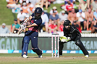 England's Moeen Ali batting. New Zealand Blackcaps v England. One Day International Cricket. Seddon Park, Hamilton, New Zealand on Sunday 25 February 2018.<br /> <br /> Copyright photo: &copy; Bruce Lim / www.photosport.nz