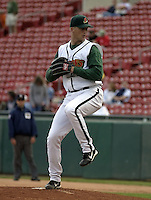June 26, 2004:  Pitcher Bob Howry of the Buffalo Bisons, International League (AAA) affiliate of the Cleveland Indians, during a game at Dunn Tire Park in Buffalo, NY.  Photo by:  Mike Janes/Four Seam Images