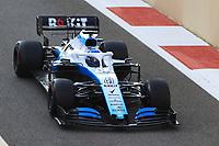 3rd December 2019; Yas Marina Circuit, Abu Dhabi, United Arab Emirates; Pirelli Formula 1 tyre testing sessions; ROKiT Williams Racing, Roy Nissany