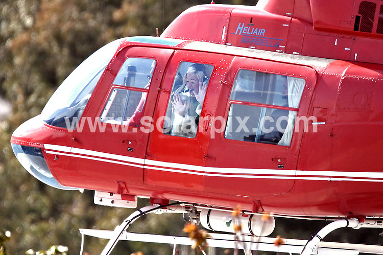 ALL ROUND EXCLUSIVE PICTURES FROM SOLARPIX.COM - .Big Brother winner Chantelle Houghton looked every bit the star, as she flew in a helicopter and took to the med in a powerful motor yacht on a recent trip to Marbella, Spain. She was there on a three day shoot for a breakfast tv show which will depict the Essex girl's rise to fame since emerging victorious from the Big Brother House..MUST CREDIT SOLARPIX.COM OR DOUBLE FEE WILL BE CHARGED.REF: 2151 AB1_JGS
