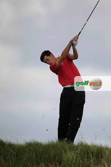 Ryan McKinstry (Cairndhu) on the 6th tee during the South of Ireland Amateur Open Championship Quarter Finals at Lahinch Golf Club  30th July 2013 <br /> Picture:  Thos Caffrey / www.golffile.ie