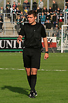 26.10.2019, Stadion Lohmühle, Luebeck, GER, Regionalliga Nord VFB Lübeck/Luebeck vs Hannover 96 II <br /> <br /> DFB REGULATIONS PROHIBIT ANY USE OF PHOTOGRAPHS AS IMAGE SEQUENCES AND/OR QUASI-VIDEO.<br /> <br /> im Bild / picture shows<br /> Schiedsrichter Felix Bahr<br /> <br /> Foto © nordphoto / Tauchnitz
