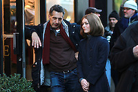 NEW YORK, NY - NOVEMBER 17: John Turturro and Vanessa Paradis on the set of the film Fading Gigolo in New York City. November 17, 2012. Credit MediaPunch Inc. NortePhoto