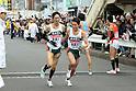 (L to R) Masaru Aoki (Tokyo Nogyo-Univ), Junya Kinoshita (Tokyo Nogyo-Univ), JANUARY 2, 2012 - Athletics : The 88th Hakone Ekiden Race the Tsurumi Relay place in Kanagawa, Japan. (Photo by Atsushi Tomura/AFLO SPORT) [1035].