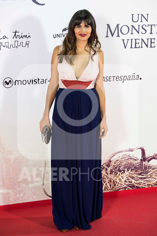 "Sara Salamo during the premiere of the spanish film ""Un Monstruo Viene a Verme"" of J.A. Bayona at Teatro Real in Madrid. September 26, 2016. (ALTERPHOTOS/Borja B.Hojas)"