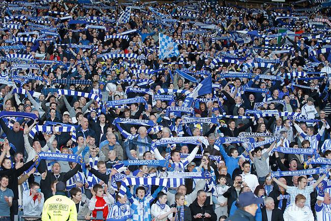 Kilmarnock fans celebrate