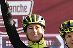 Annemiek van Vleuten (NED) Mitchelton-Scott Women at sign on before the Strade Bianche Women Elite 2019 running 133km from Siena to Siena, held over the white gravel roads of Tuscany, Italy. 9th March 2019.<br /> Picture: Eoin Clarke | Cyclefile<br /> <br /> <br /> All photos usage must carry mandatory copyright credit (© Cyclefile | Eoin Clarke)