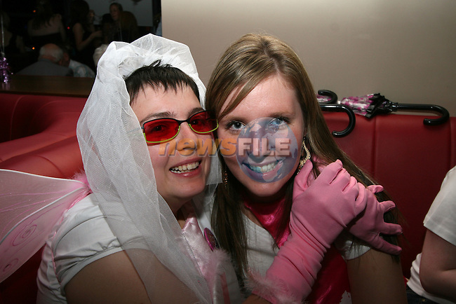 Specsavers staff, Beth Price and Leona Tiernan at Beth's hen party in Bru...Photo NEWSFILE/Jenny Matthews.(Photo credit should read Jenny Matthews/NEWSFILE)....This Picture has been sent you under the condtions enclosed by:.Newsfile Ltd..The Studio,.Millmount Abbey,.Drogheda,.Co Meath..Ireland..Tel: +353(0)41-9871240.Fax: +353(0)41-9871260.GSM: +353(0)86-2500958.email: pictures@newsfile.ie.www.newsfile.ie.FTP: 193.120.102.198.