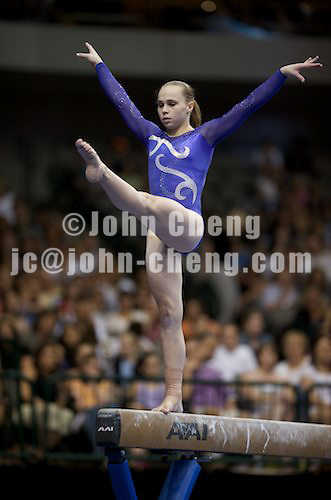 8/15/09 - Photo by John Cheng for USA Gymnastics.  VISA Championships take place at the American Airline Center in Dallas, Texas.