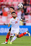 Komail Hasan Alaswad of Bahrain (front) fights for the ball with Jung Wooyoung of South Korea (back) during the AFC Asian Cup UAE 2019 Round of 16 match between South Korea (KOR) and Bahrain (BHR) at Rashid Stadium on 22 January 2019 in Dubai, United Arab Emirates. Photo by Marcio Rodrigo Machado / Power Sport Images
