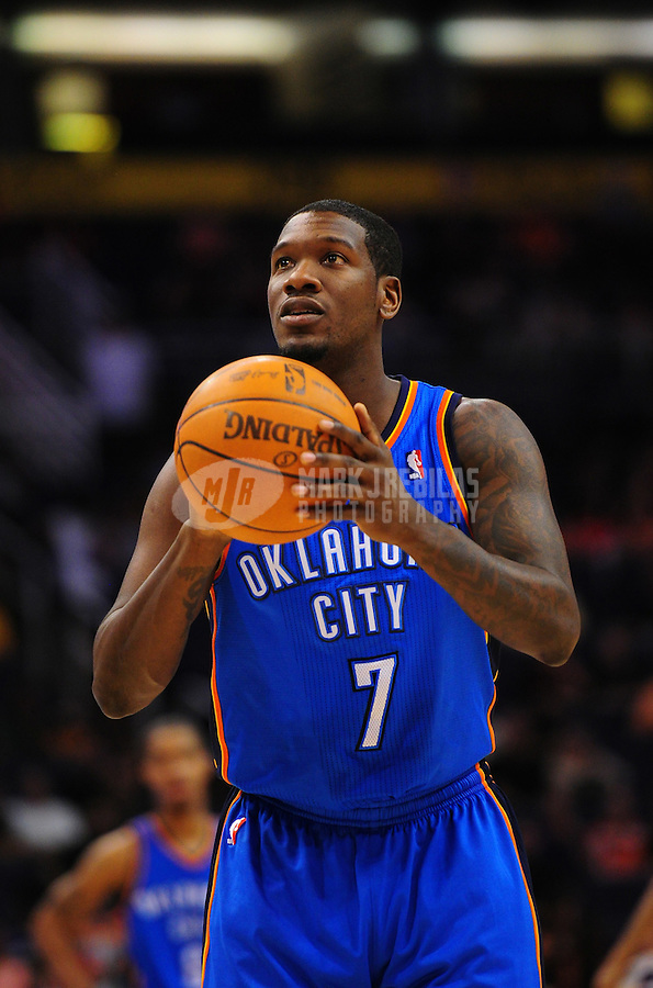 Mar. 30, 2011; Phoenix, AZ, USA; Oklahoma City Thunder guard (7) Royal Ivey against the Phoenix Suns at the US Airways Center. Mandatory Credit: Mark J. Rebilas-