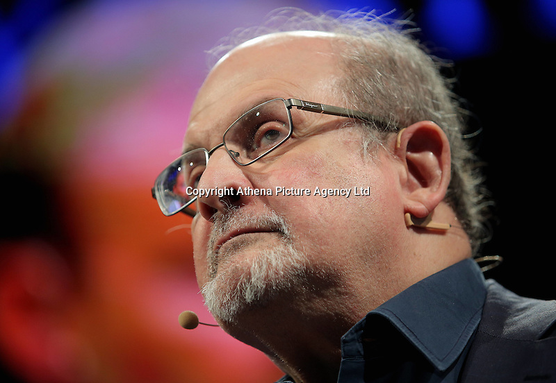 Pictured: Salman Rushdie Monday 30 May 2016<br />
