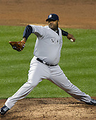 New York Yankees pitcher C.C. Sabathia (52) works in the second ining against the Baltimore Orioles at Oriole Park at Camden Yards in Baltimore, MD on Thursday, April 11, 2012.  .Credit: Ron Sachs / CNP.(RESTRICTION: NO New York or New Jersey Newspapers or newspapers within a 75 mile radius of New York City)